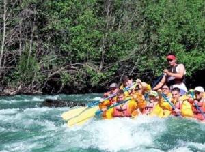 Folks go rafting in the Shoshone River
