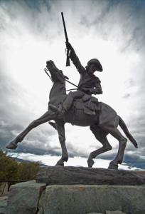 The Statue of Buffalo Bill in Cody, Wyoming