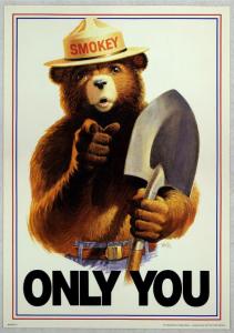 A classic Smokey Bear poster