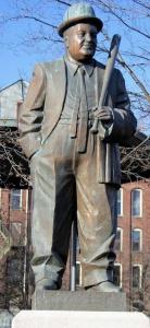 The statue of Lou Costello in Lou Costello Memorial Park.