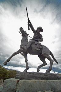 A statue of Buffalo Bill Cody in Cody, Wyoming